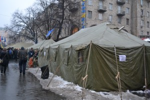 Tent city on Khreshatyk